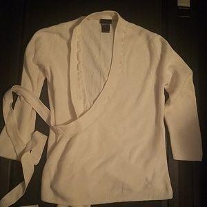 Ann Taylor Wrap Shirt